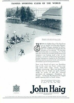 1926 John Haig Scotch Whiskies AD Wanderers Golden City of Rand Johannesburg