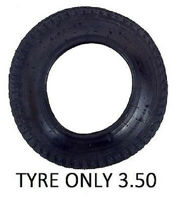 "TYRE ONLY 3.50 - 8 to fit 14""  Wheelbarrow Wheel Innertube Inner tube"