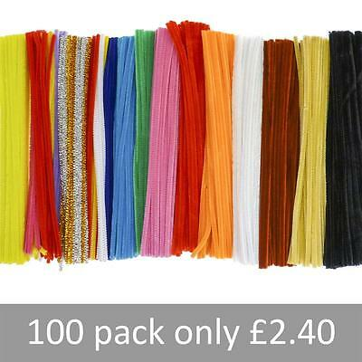Chenille Craft Stems Pipe Cleaners 12in 30cm