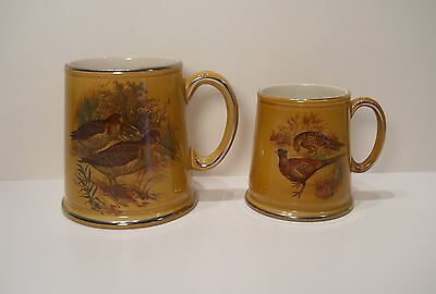2 James Kent Mug Cup Stien Coffee Beer Old Foley Birds Duck Pheasant