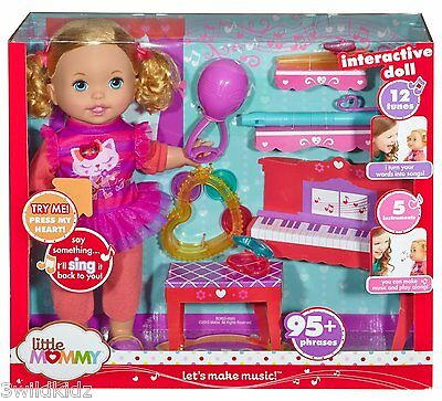 Little Mommy Let's Make Music Doll ~~ Holiday Gift