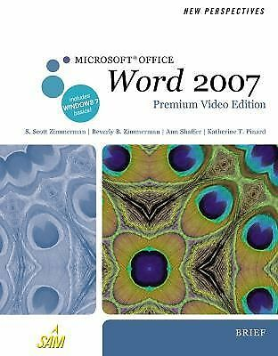 New Perspectives on Microsoft Office Word 2007, Brief, Premium Video Edition (Ne