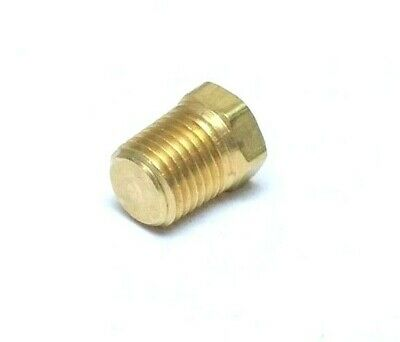 """Brass Plug 1/4"""" NPT Male, Hex Head Solid Brass Made In USA"""