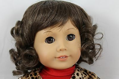 MONIQUE ANGELICA WIG SIZE 12-13 8A-BROWN,MODELED ON AN AMERICAN GIRL DOLL
