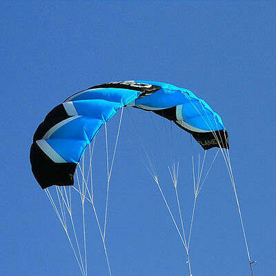 2M² Quad Line Blue Traction Kite Power Trainer Stunt Kite Parafoil Parachute