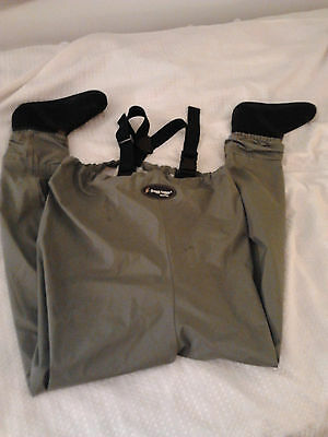 FROGG TOGGS WADE WEAR  # 2711138 MENS SMALL BREATHABLE  STOCKING FOOT WADERS-LO$