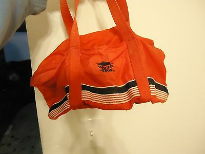 Vintage Pizza Hut mini duffel sports bag with small HOLES LOOK vtg !!!