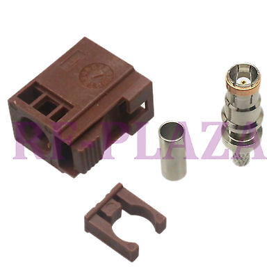1pce Connector Fakra SMB F 8011 female jack crimp RG174 RG316 LMR100 cable