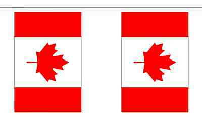 Canada Flag Bunting - 3m 6m 9m Metre Length 10 20 30 Flags - Polyester