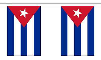 Cuba Flag Bunting - 3m 6m 9m Metre Length 10 20 30 Flags - Polyester