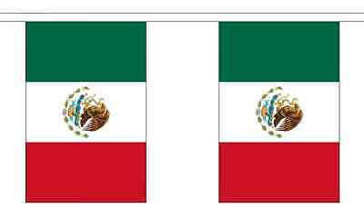 Mexico Flag Bunting - 3m 6m 9m Metre Length 10 20 30 Flags - Mexican Party