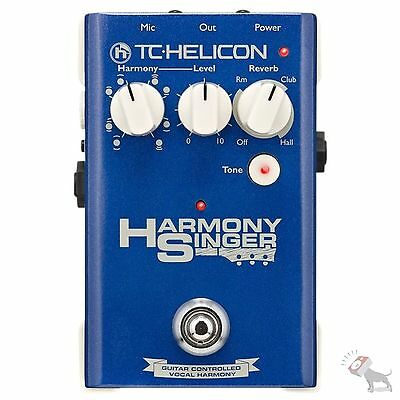 TC Helicon Harmony Singer Voice Pedal Vocal Effects Processor Effects Pedal