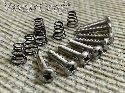 Fender Stratocaster Pickup & Switch Stainless Steel Screws(8) plus 6 set Springs