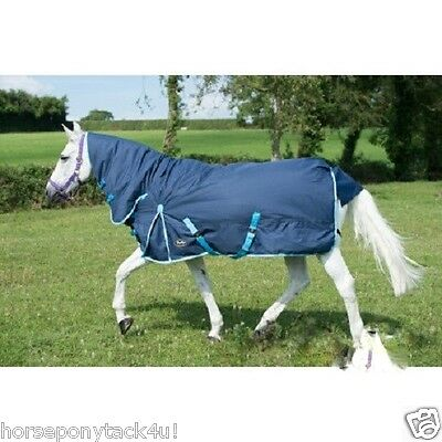 350G Heavy Weight Combo Turnout Rug With Neck All Sizes  Horse Or Pony
