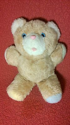 """Vintage 12"""" Commonwealth MUSICAL TEDDY BEAR wind up plush stuffed toy"""