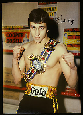 New Charlie Magri Boxing Signed 12x16 Photograph
