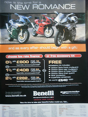 BENELLI TORNADO TRE NOVECENTO - 1 page COLOUR ADVERT TYPE 2