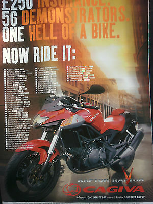 CAGIVA V-RAPTOR - 1 page COLOUR ADVERT