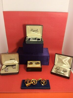 Vintage Cuff Sets Including Tie Bars (5)Pcs Lot ( Old New) Sterling