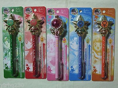 Sailor Moon 20th Anniversary Pointer Ball Point Pen Set of 5 Prism Stationary!