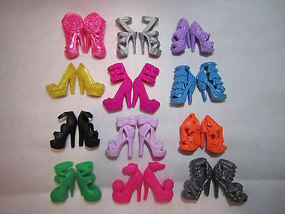 Lot of 6 Gorgeous Stylish High-Quality Pairs of Heels for Barbie Dolls