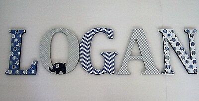 Wood Letters-Nursery Decor- ANY NAME- Custom made Many other designs available