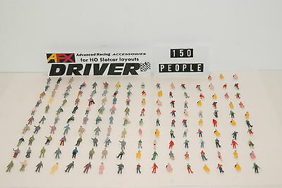 150 HO SCALE STANDING PEOPLE GREAT for AURORA RACESETS with SLOT CAR GRANDSTANDS