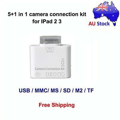 NEW 5 in 1 Camera Connection Kit Card Reader USB SD TF MS MMC for Apple iPad 3 2