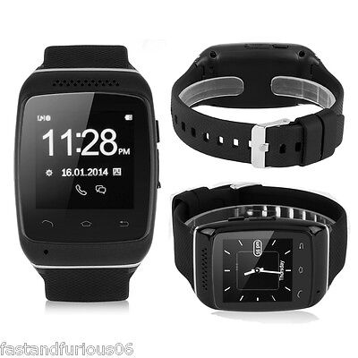Bluetooth Smartwatch Orologio Telefono Cellulare Sync SMS per iPhone Android HTC