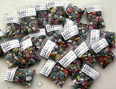 1 x Large Pack of Randomly Mixed Acrylic Jewellery Making Beads  - 100g