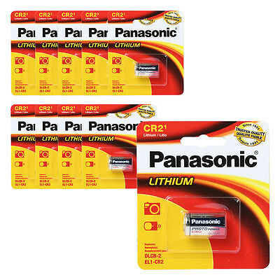 Panasonic CR2 3V Lithium Battery 1PACK (10PCS) Powerful Single Use Batteries