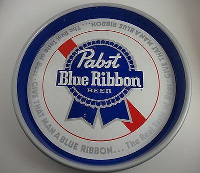 Pabst Blue Ribbon Beer Metal Tray
