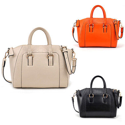 Trendy Women Hobo Shoulder Bag Pu Leather Satchel Cross Body Tote Handbag Purse