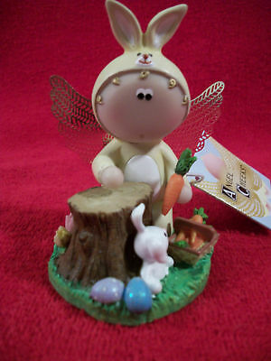 Angel Cheeks Bunny & Carrots Easter 2011 Collectible With Tag & Gift Bag---NEW
