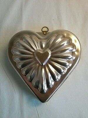 Vintage Heart Shaped Copper Anodized Alum. Jell-O Mold (Inv.#:3264460)