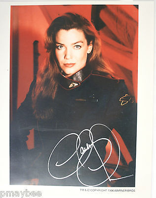 "Autographed 8""x10"" Claudia Christian Photo with COA as Susan Ivanova - BABYLON 5"