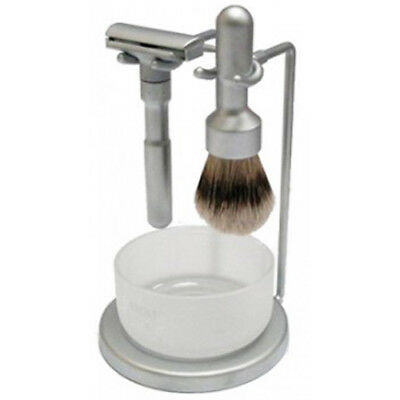 MERKUR Futur 4-Piece Shaving Set, Brushed Chrome