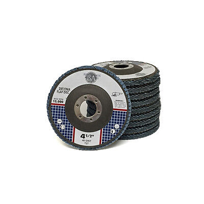 "30 Pack 4.5"" x 7/8"" Zirc Flap Disc Grinding Wheels 40 60 80 Grit T27 Bundle"