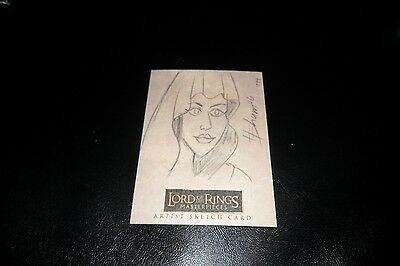 Lord of the Rings Masterpieces Topps Sketch Card by Howard Shum 1/1