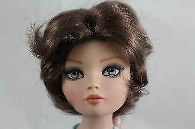 """SIZE 7-1/4 MONIQUE  WIG  """"GRACE"""", BROWN/BLACK, MADE FOR A ELLOWYNE WILDE DOLL"""