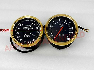 Smith Replica Tachometer Speedo 0-120Mph Vintage Bsa Triumph Norton Brass Bezel