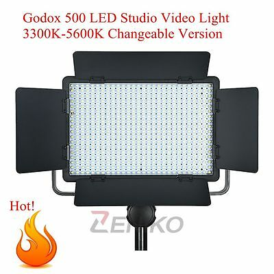 Godox 500 LED Studio Video Continuous Light Lamp For Camera Camcorder 3300-5600K
