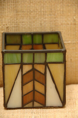 PARTYLITE Tiffany Style Stained Glass Candle Holder