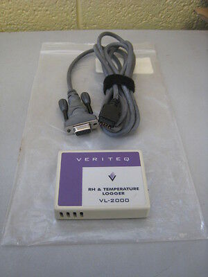 Vaisala Veriteq VL-2000 RH & Temperature Data Logger w/ Cable Used Free Shipping