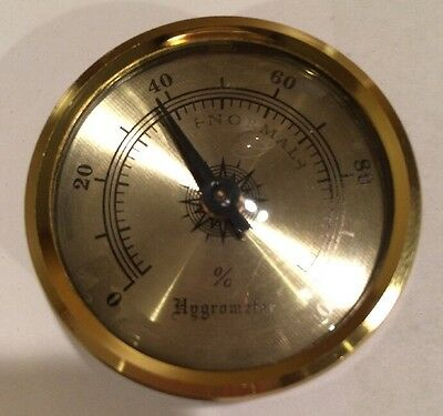 Brass Frame Hygrometer for Cigar Humidor