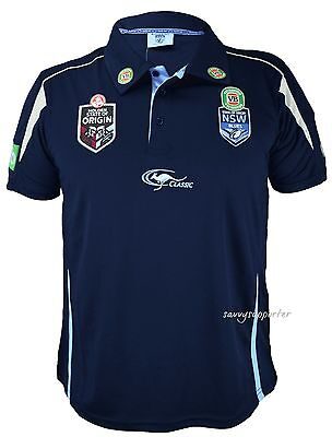 NSW Blues State of Origin NRL Navy Team Polo Shirt 'Select Size' S-3XL BNWT5