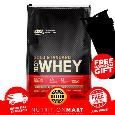 OPTIMUM NUTRITION GOLD STANDARD 100% WHEY PROTEIN POWDER 10lbs 4.5kg / 10LB