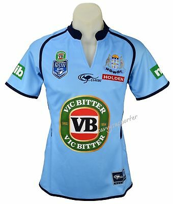 NSW Blues State of Origin NRL Ladies Jersey 'Select Size' 8-16 BNWT5