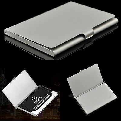 Fashion Design Business Name Credit ID Card Holder Box Case Stainless Steel Case