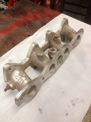 Ford Crossflow Inlet Manifold To Take Twin Webber Carburettors